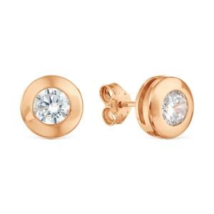 Auksiniai auskarai su cirkoniu 074S31