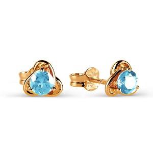 Auksiniai auskarai su topazu 069S09