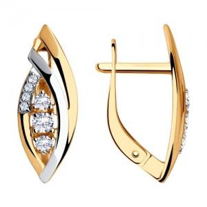 Auksiniai auskarai su fianitais 065S05
