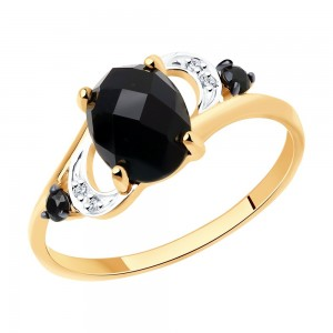 Auksinis žiedas su Agatu 071K01