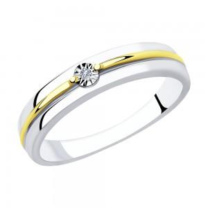 Sidabrinis žiedas su briliantu 177K03