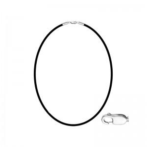 Kaučiukinė grandinėlė su sidabru 50cm