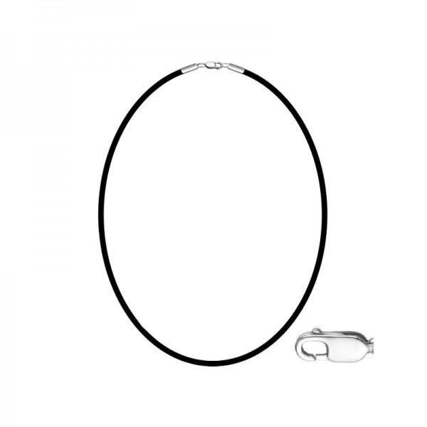 Kaučiukinė grandinėlė su sidabru 45cm