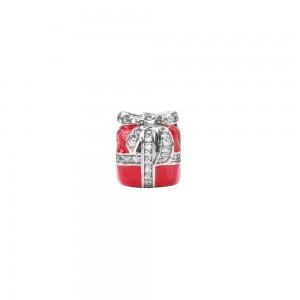 """Sidabrinis  """"Pandora"""" karoliukas su emaliu ir cirkoniais 170P09"""