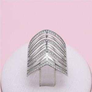Sidabrinis žiedas su cirkoniais 19.5 mm 174K25