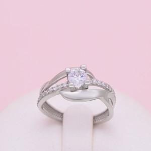 Sidabrinis žiedas su cirkoniais 17.5 mm 174K18