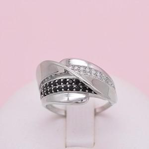 Sidabrinis žiedas su cirkoniais 19 mm 174K24