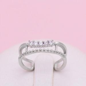 Sidabrinis žiedas su cirkoniais 17 mm 174K05