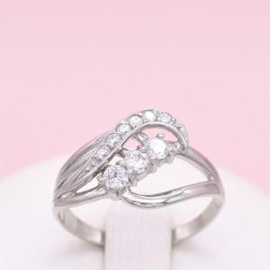 Sidabrinis žiedas su cirkoniais 18.5 mm 180K14