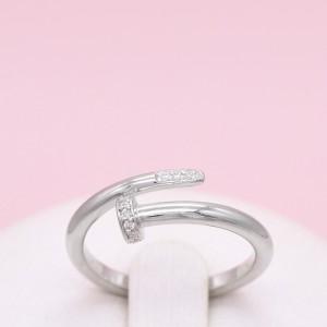 Sidabrinis žiedas su cirkoniais 17.5 mm 180K11