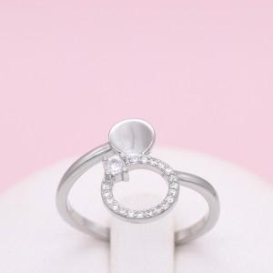 Sidabrinis žiedas su cirkoniais 18 mm 180K03