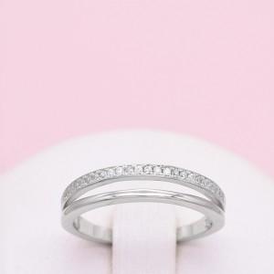 Sidabrinis žiedas su cirkoniais 17 mm 180K07