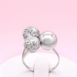 """Sidabrinis žiedas """"Burbulai"""" 180K17"""