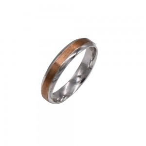 Sidabrinis žiedas su aukso plokštelė