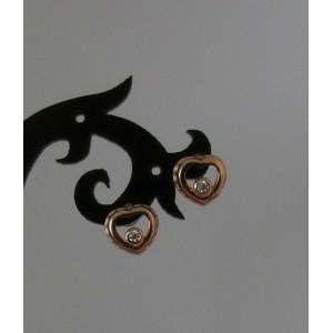 Paauksuotos sidabriniai auskarai su cirkoniais